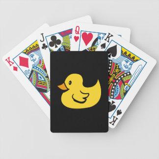 Rubber anka som leker kort spelkort