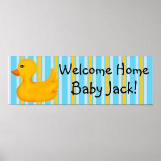 Rubber Ducky baneraffisch Poster