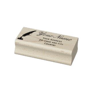 Rubber frimärke för adress - vintageQuill Stämpel