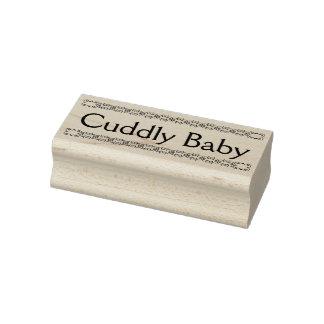 Rubber frimärke för kelig bebis, nyfödd stämpel