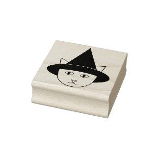 Rubber frimärke för tecknadHäxa-Katt ansikte Stämpel