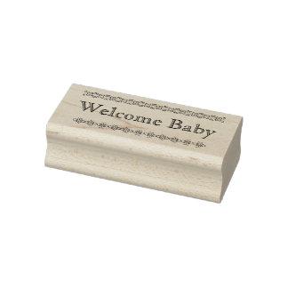Rubber frimärke för välkommen bebis stämpel