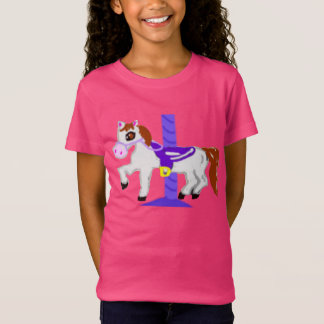 Rubber frimärke, karusellhäst, i färg tröja