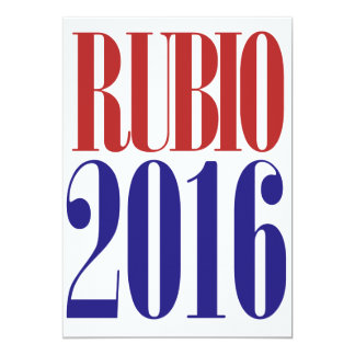 Rubio 2016 12,7 x 17,8 cm inbjudningskort