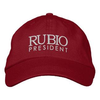 Rubio för presidenten 2016 broderad keps