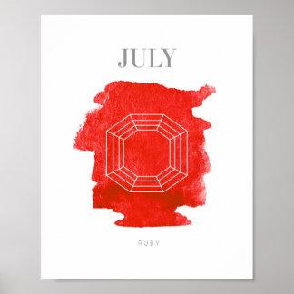 Ruby Birthstone Juli Poster