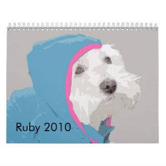 Ruby den Westie 2010 kalendern Kalender