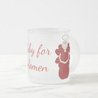 Ruby för röd ängel för kvinnor frostad glasmugg