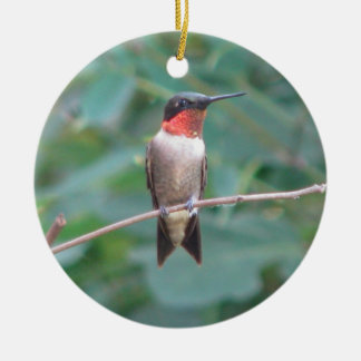Ruby-hals Hummingbird Julgransprydnad Keramik