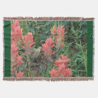 Ruby i röda blommor filt