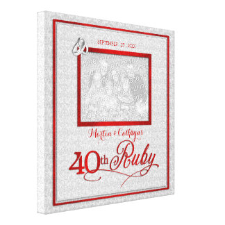 Rubybröllopsdag - foto 11x11-inch 40th canvastryck