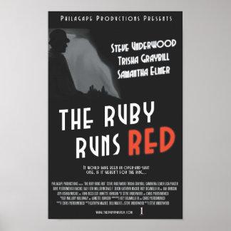 """Rubyen kör den röda affischen - 11x17 """", poster"""