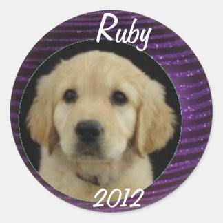Rubyklistermärkelakan 2012 runt klistermärke
