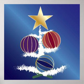 RubysafirAmethyst i julgranen Poster
