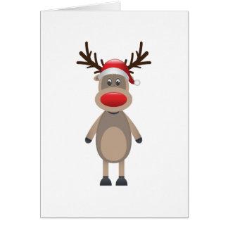 Rudolf den gulliga designen för renjul hälsningskort