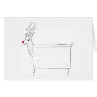 Rudolf det röda Nosed element Hälsningskort