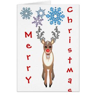 Rudolf god julkort hälsningskort