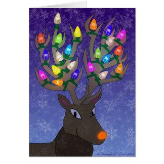 Rudolf julkort hälsningskort