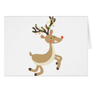 Rudolf med julljus, perfekt julaftongåva hälsningskort