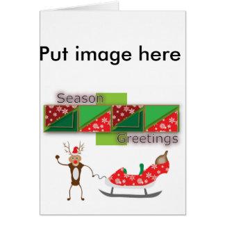 Rudolf och dräpar hälsningkortet hälsningskort