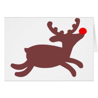 Rudolf ren hälsningskort