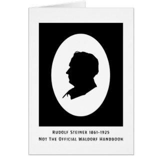 Rudolf Steiner Cameo med data Hälsningskort