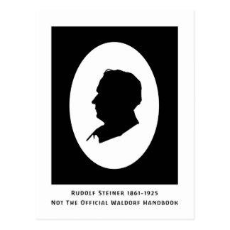 Rudolf Steiner Cameo med data Vykort