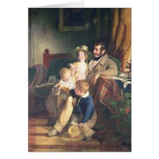 Rudolf von Arthaber med hans barn Rudolf Hälsningskort