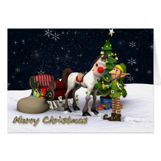 Rudolfs utbytesjulkort hälsningskort
