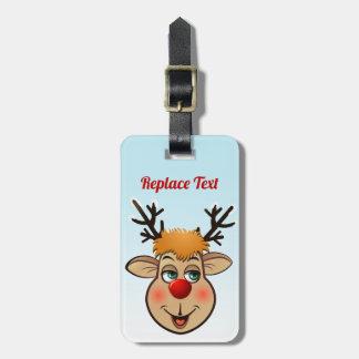 Rudolph - den mest berömda renen allra bagagebricka