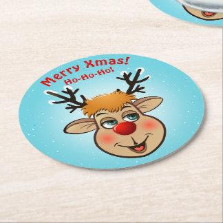 Rudolph - den mest berömda renen allra underlägg papper rund