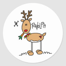 Rudolph den röda Nosed renklistermärken