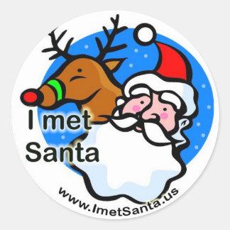 Rudolph - jag mötte den Santa klistermärken