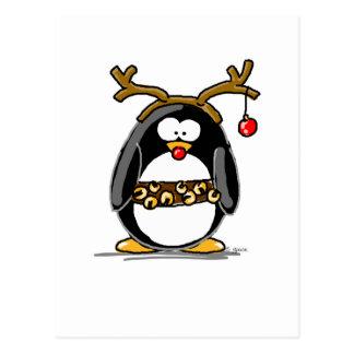 Rudolph pingvin vykort
