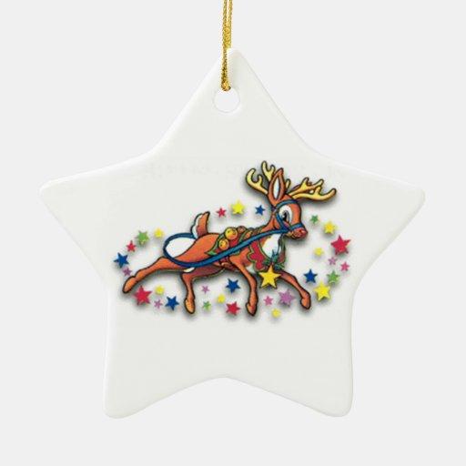 Rudolph ren och stjärnor julgranskulor