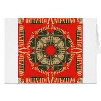 Rudolph Valentino design 1 Hälsningskort