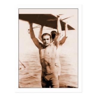 Rudolph Valentino i baddräkt Vykort