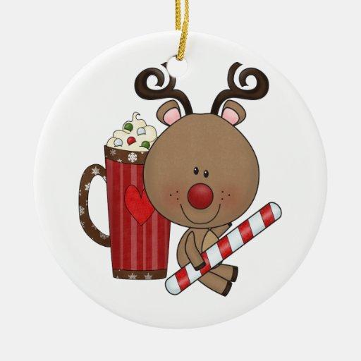 Rudy ren med kakao jul dekorationer