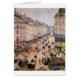 Rue Sanktt Lazare av Camille Pissarro Hälsningskort