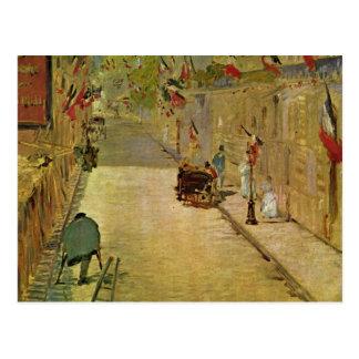 RueMosnier mit Fahnen - Edouard Manet Vykort