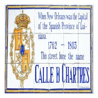 Ruen Chartres belägger med tegel väggmålning Fyrkantigt 13,3 Cm Inbjudningskort