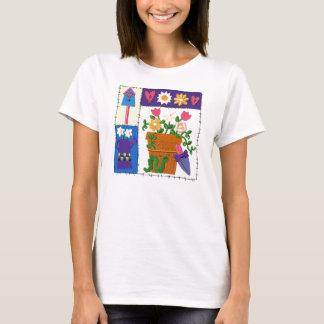 Ruffen lappar trädgårds- design t-shirts