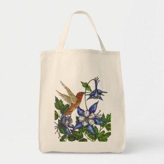 Rufous Hummingbird med Columbines Tygkasse