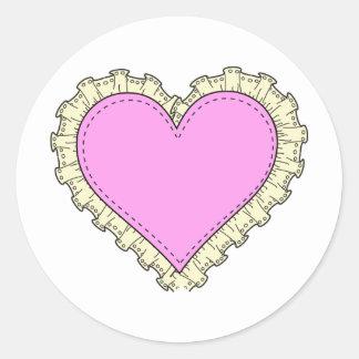 rufsa hjärta runt klistermärke