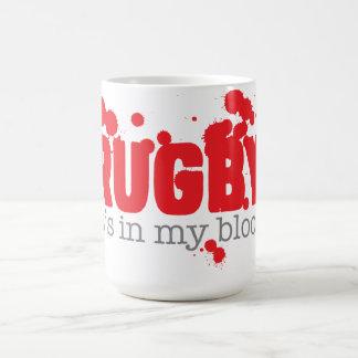 RUGBY - den är i mitt blod Vit Mugg