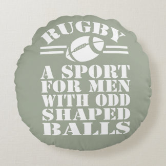 Rugby en sport som är för manar med udda formade rund kudde
