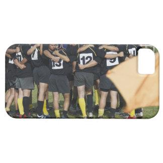 Rugbylaganseende i en cirkla iPhone 5 skal