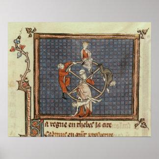 Rulla av förmögenhet, från Ovide moraliserar Poster