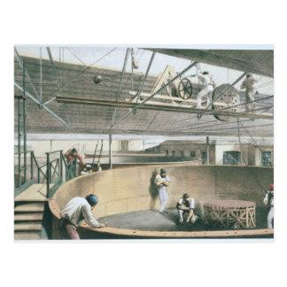 Rulla ihop telegrafera kabe i tankerna på woen vykort