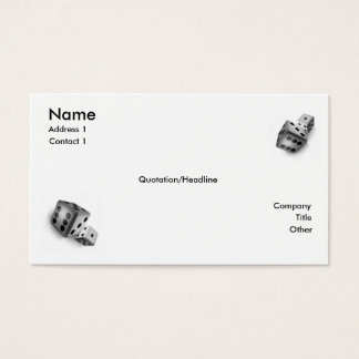 Rulla tärningen visitkort